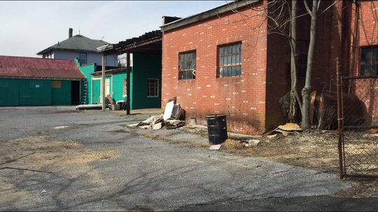 A view of the rear of 419 W. Chestnut avenue at the corner of South West Boulevard. Family Dollar wanted the site for a store, but Vineland on Wednesday rejecetd its plan.