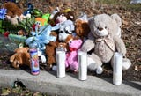 A memorial was on display outside the Bridgeton home of 2-year-old Daniel Griner Jr. on Thursday. Authorities say his burned and dismembered remains were found underneath a shed at the family's home.