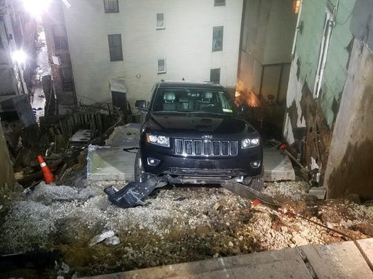 A retaining wall collapsed on Landscape Avenue in Yonkers on Feb. 13, 2019.