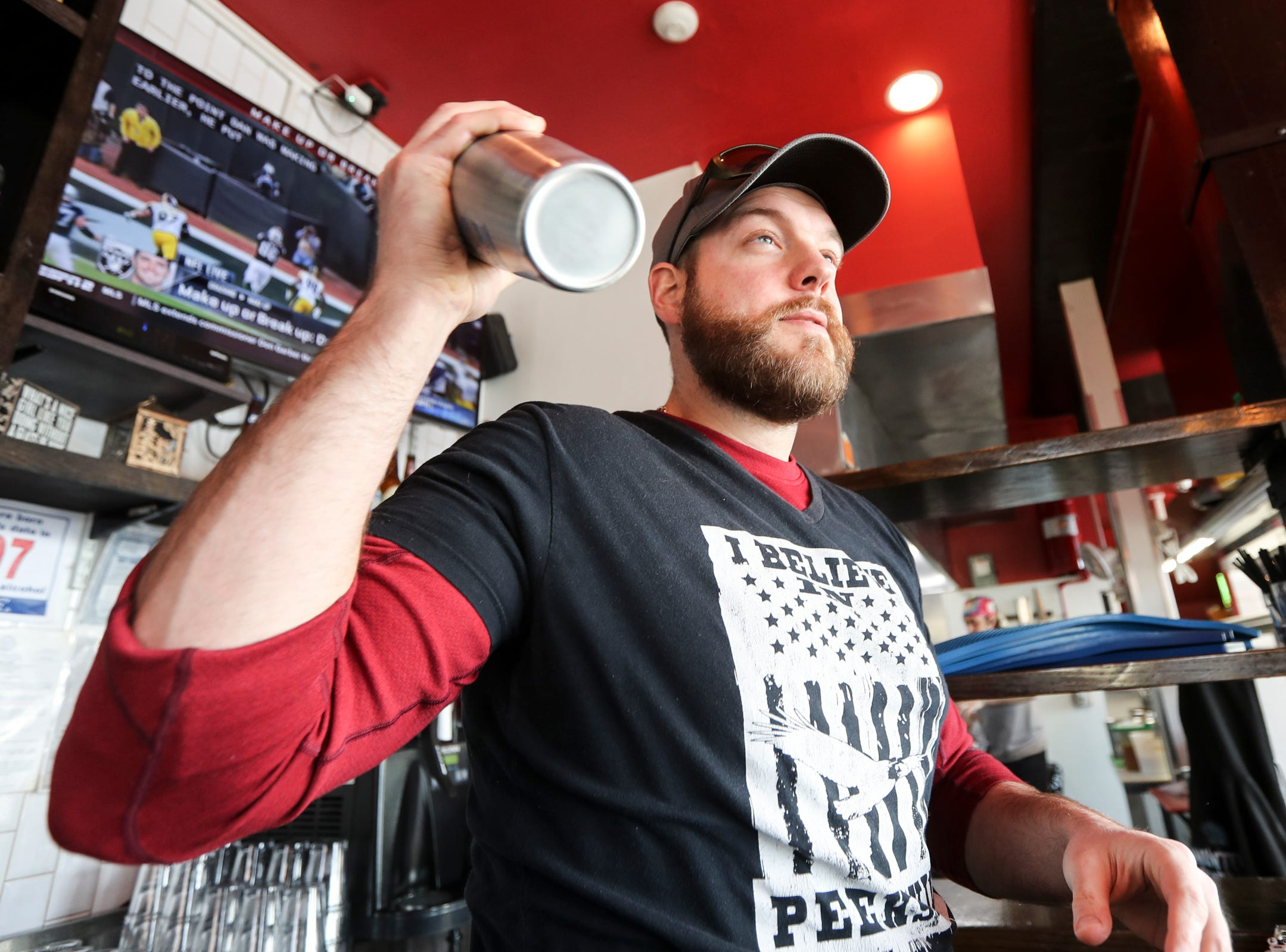 Bill Conklin, a bartender at Taco Dive Bar in Peekskill, shakes a Margarita Feb.14, 2019. Taco Dive Bar offers over fifty different tequilas. National Margarita Day is Feb. 22nd.