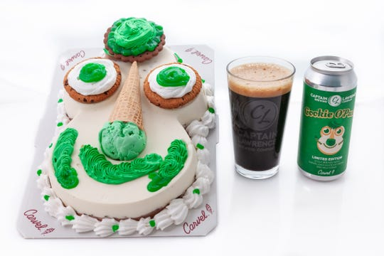 Captain Lawrence Brewing and Carvel collaborate to make Cookie O' Puss St. Patrick's Day Stout, in time for St. Patrick's Day 2019. They will release Cookie Puss Birthday Beer.