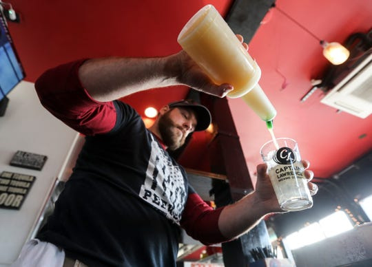 Bill Conklin, a bartender at Taco Dive Bar in Peekskill, mixes a margarita Feb.14, 2019. Taco Dive Bar offers over fifty different tequilas. National Margarita Day is Feb. 22nd.