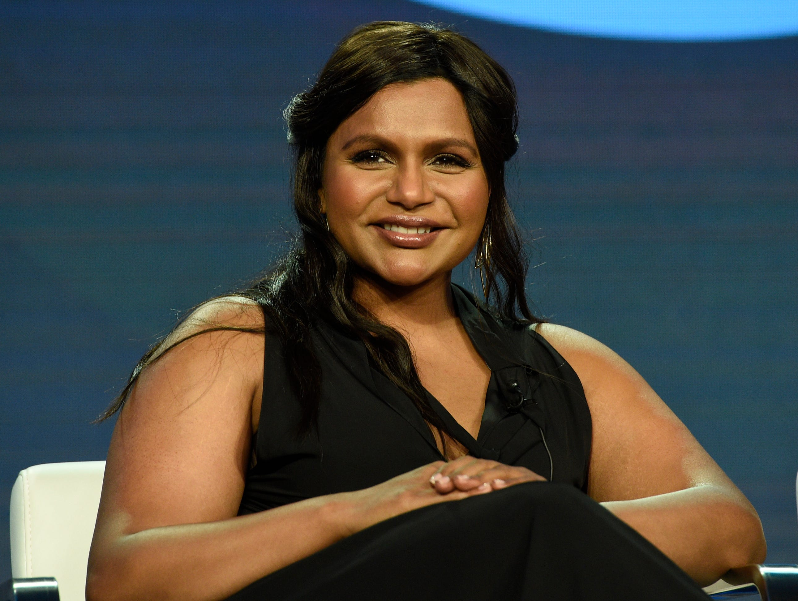 """Mindy Kaling listens during the """"Amazon Visionary Voices"""" panel."""