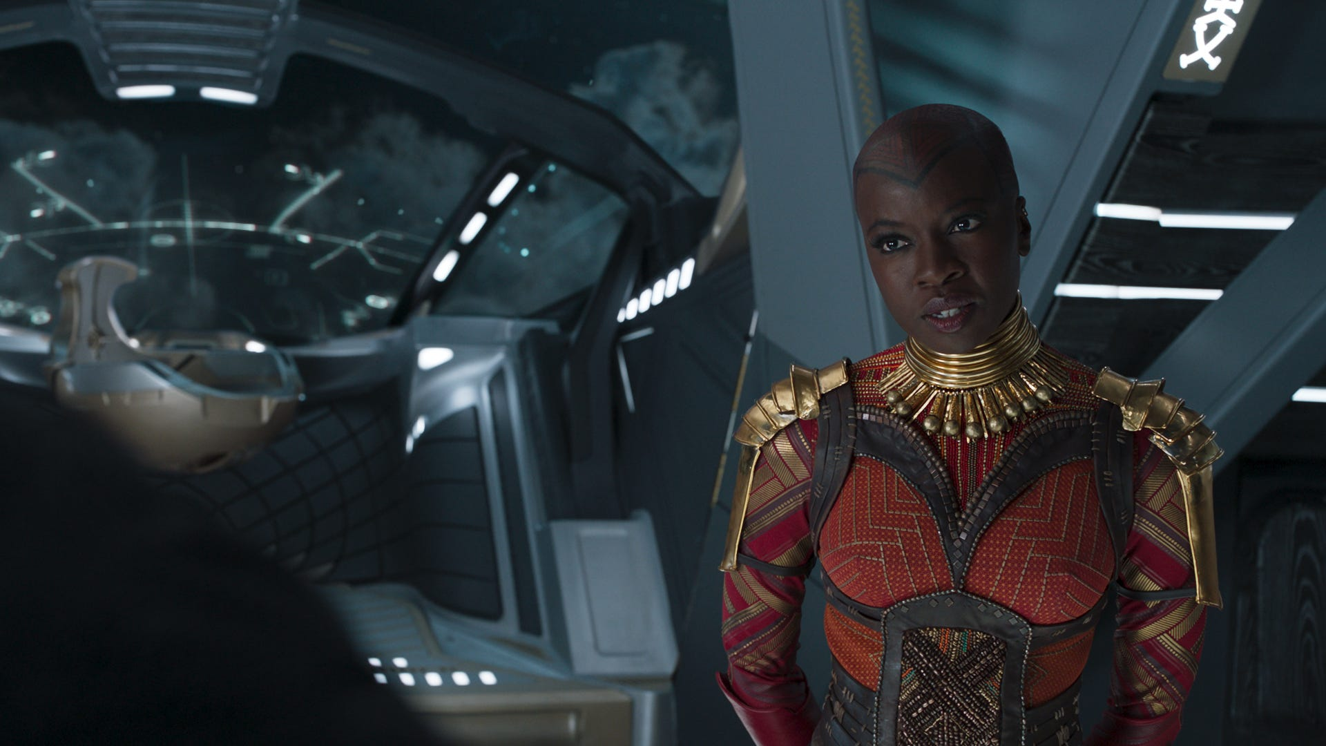 "In ""Black Panther,"" Okoye (Danai Gurira) wore armor inspired by tribes throughout the African continent."