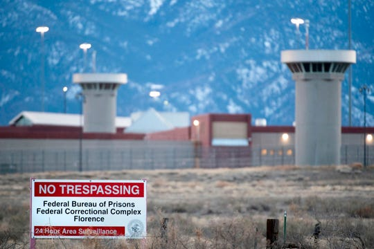 """This photo taken on February 13, 2019 shows a view of the United States Penitentiary Administrative Maximum Facility, also known as the ADX or """"Supermax"""", in Florence, Colorado."""