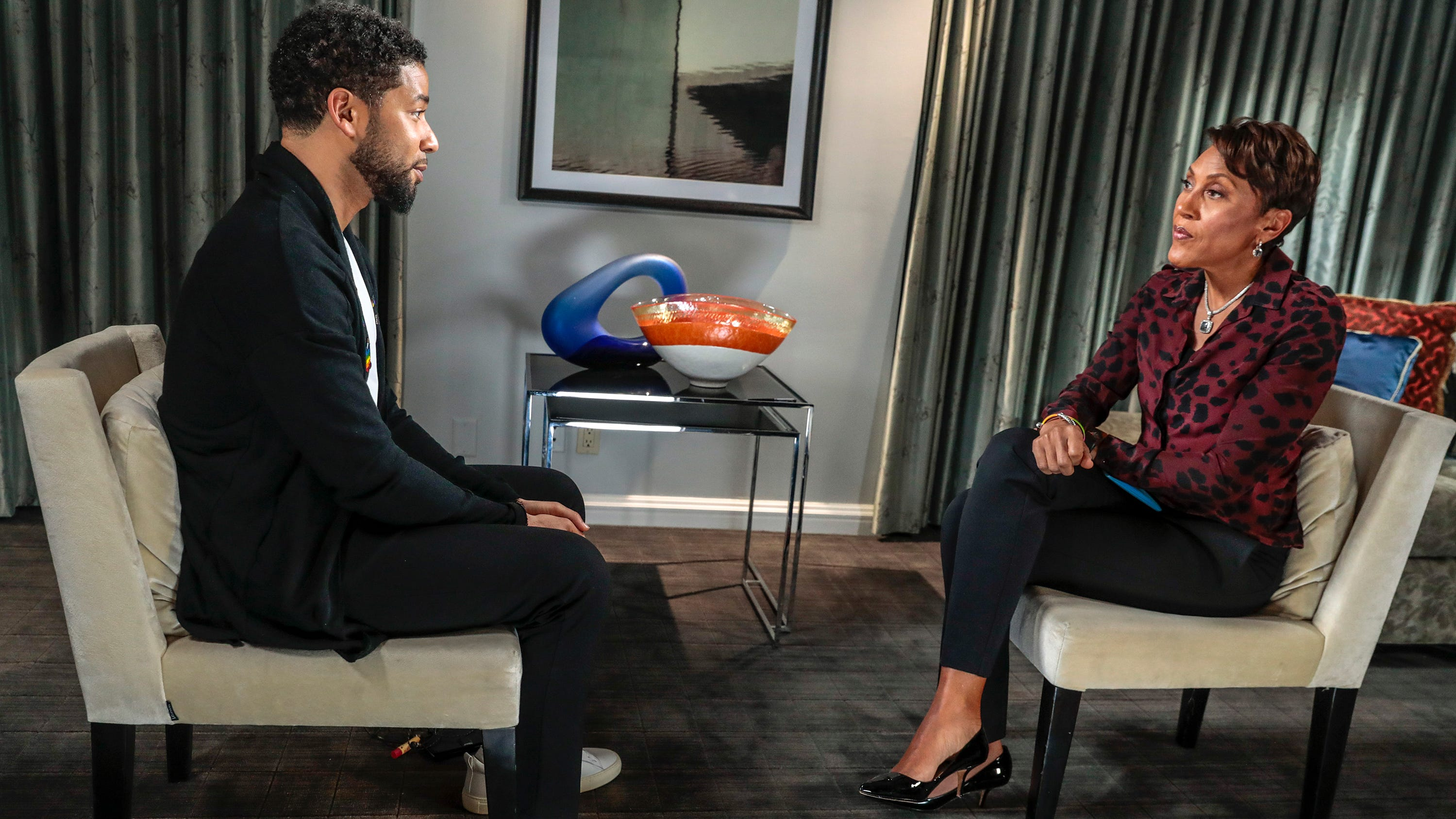 """On Feb. 22, less than 10 days after interviewing Smollett on """"Good Morning America,"""" Robin Roberts called his arrest a """"setback for race relations, homophobia, MAGA supporters – the fingers were pointed at them. I cannot think of another case where there's this anger on so many sides, and you can understand why there would be."""""""