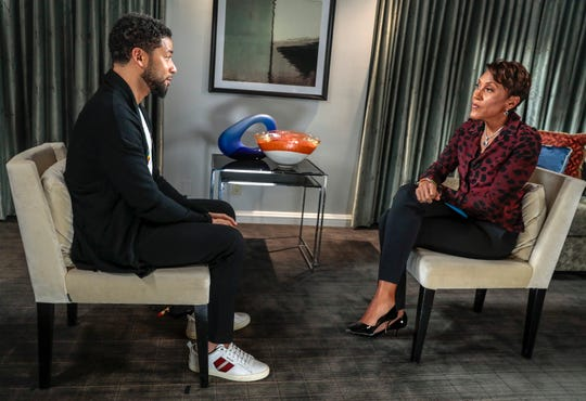 "Jussie Smollett detailed his Jan. 29 assault with ""Good Morning America"" host Robin Roberts in a new interview Thursday."