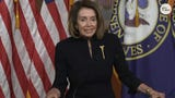 "House Speaker Nancy Pelosi rallied against the possibility of President Donald Trump declaring a national emergency. She says Republicans ""should have some dismay to the door that they are opening."""