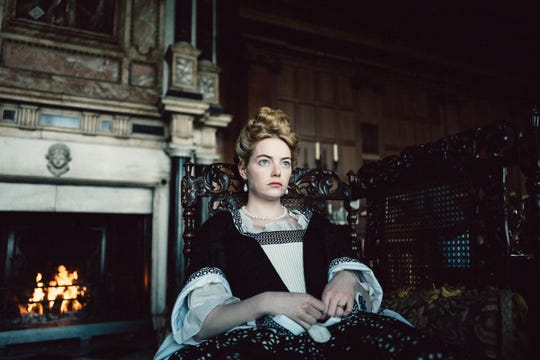 "Emma Stone wore her first corset in ""The Favourite."""