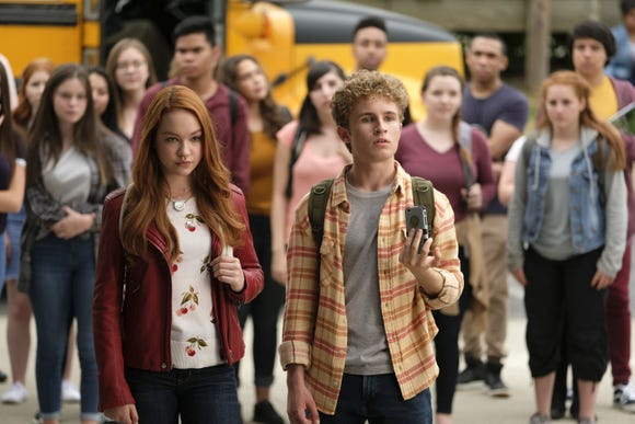 Sadie Stanley (Kim Possible) and Sean Giambrone (Ron Stoppable) play best friends.