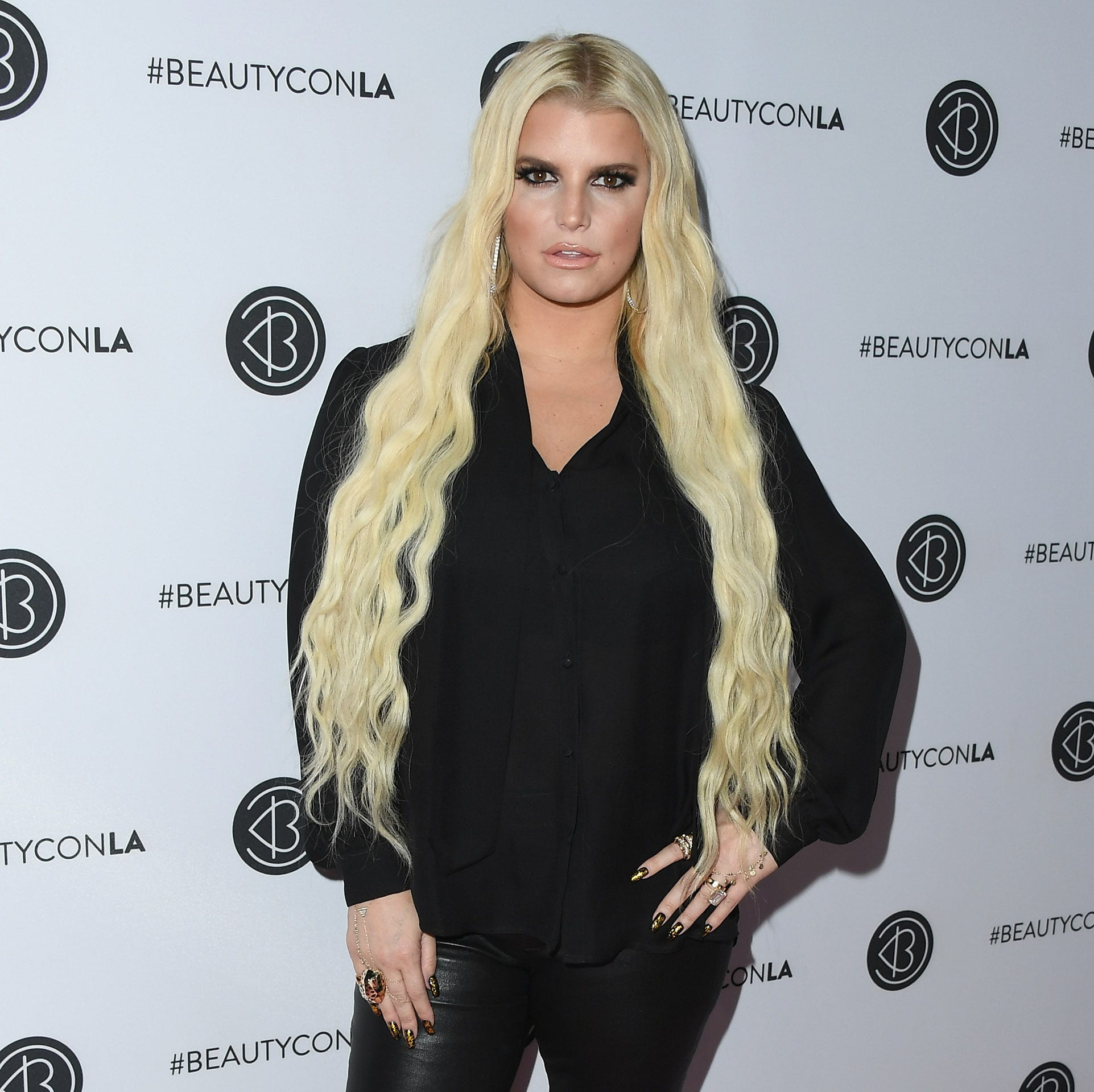 Jessica Simpson attends Beautycon Festival LA 2018 at Los Angeles Convention Center on July 14, 2018 in Los Angeles, California.