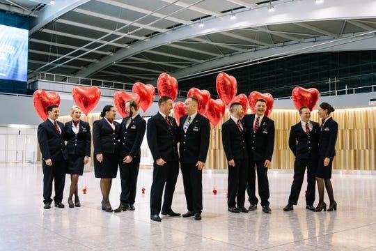 British Airways staffs Valentine's Day flight with 5 cabin crew couples
