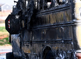 A Wylie ISD school bus caught fire Friday after an SUV struck it head-on. The driver and student onboard were rescued before fire engulfed the bus.