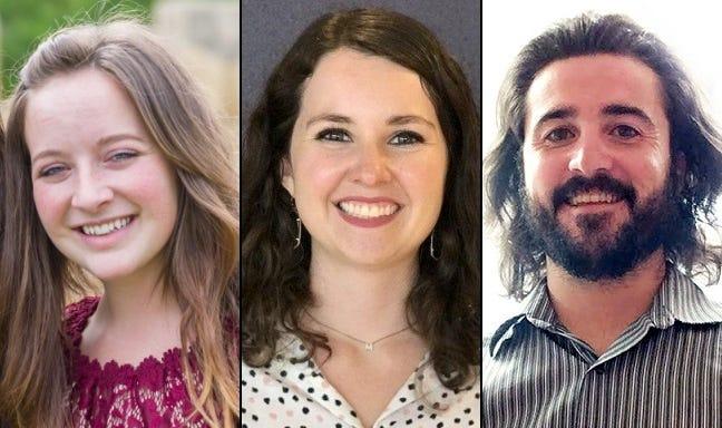 Lindsie Lawson, Mackenzie Sanderson and Kyle Yarbrough