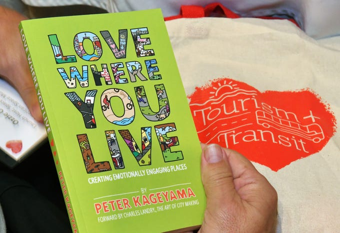 All who attended was given a copy of guest speaker Peter Kageyama's book. The 2019 Valentine's Day Tourism + Transit Summit was held at the Radisson Resort at the Port, and later included activities and a luncheon on board the Carnival Cruise Line ship Liberty.