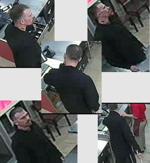 Police are searching for a man who used a small metal baseball bat to rob a Papa Johns.