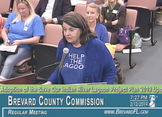Gail Meredith of Satellite Beach addresses the Brevard County Commission on Tuesday