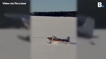 Tim Loisel of Colchester shared this plane, mounted with skis, taking off from Malletts Bay on Lake Champlain on Thursday, Feb. 14, 2019.