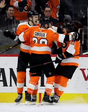James van Riemsdyk, Claude Giroux and Travis Konecny haven't been producing lately and interim coach Scott Gordon seems to be contemplating a change.