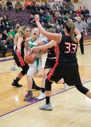 The six-seeded Huntington High School girls basketball team defeated 11-seeded Leesburg Fairfield 68-64 in the Division III sectional on Thursday at Valley High School.