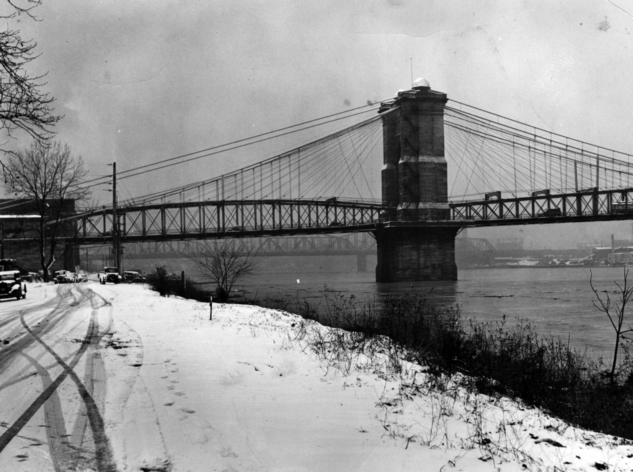 FEBRUARY 4, 1939: John A. Roebling Suspension Bridge. From the Enquirer archives scanned May 16, 2013