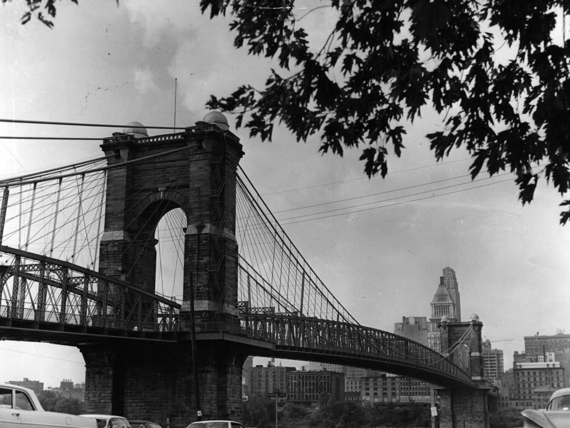SEPTEMBER 1966: John A. Roebling Suspension Bridge. The Enquirer/Ran Cochran scanned May 16, 2013