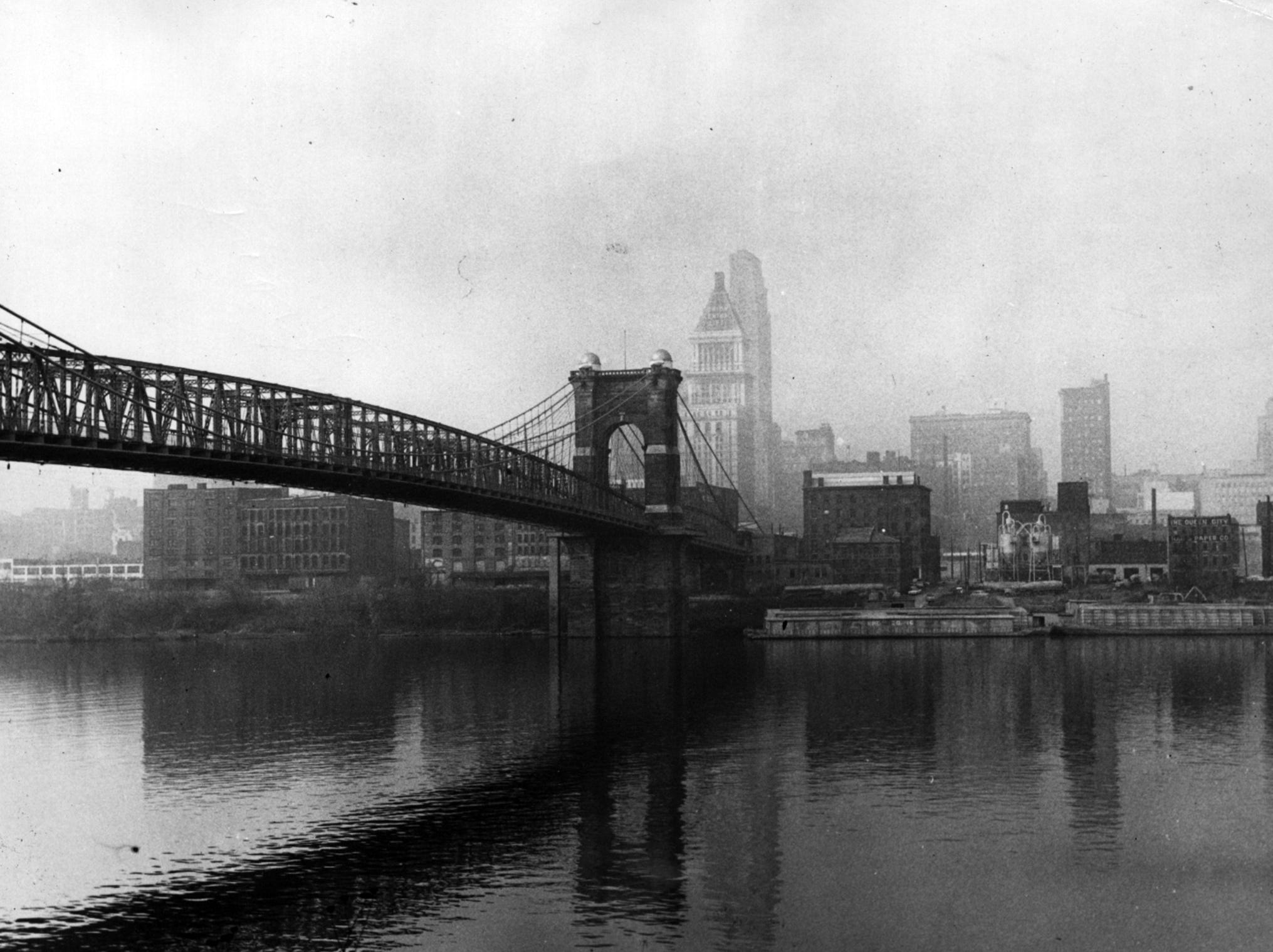 1963: John A. Roebling Suspension Bridge. From the Enquirer archives scanned May 16, 2013