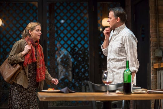 """Lina (Kimberly Gilbert) and Roberto (Marcus Kyd) are seen in the Playhouse in the Park's world premiere production of Audrey Cefaly's """"The Last Wide Open,"""" which runs through March 10 in the Shelterhouse Theatre."""