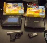 Cocaine and a handgun seized during a Wood County traffic stop.