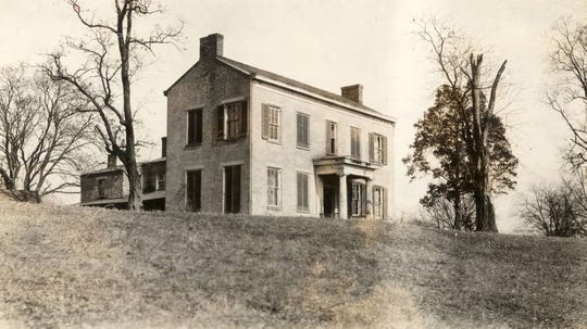 The boyhood home of President Benjamin Harrison in North Bend stood until 1959.