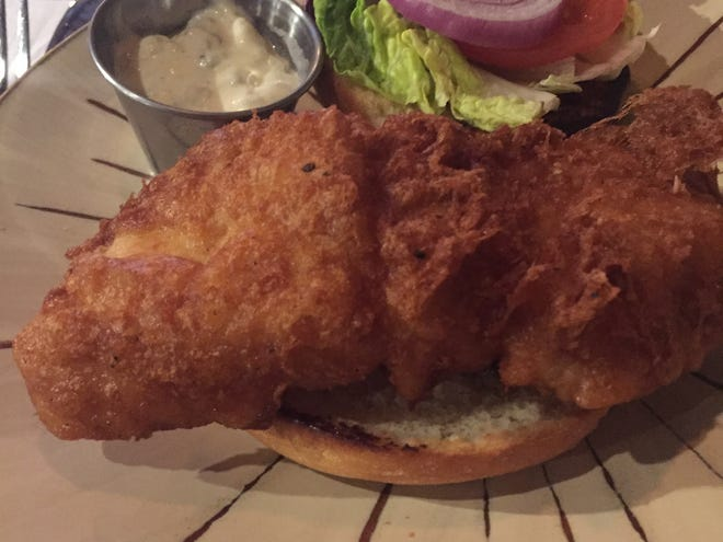 The beer-battered cod sandwich from Street City Pub, Downtown