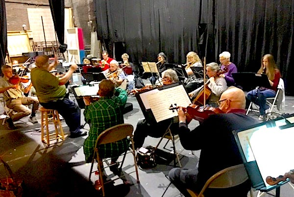 Brook Orchestra rehearsing at historic Brook Theatre inBound Brook.