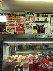 A look at the deli counter and the wall behind it at B&B Grocery on the south side of Des Moines.