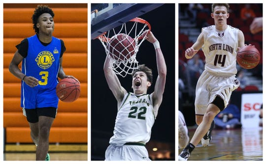 From left to right: Tyreke Locure, Patrick McCaffery and Jake Hilmer will go down as three of the best high school players Iowa has ever had.