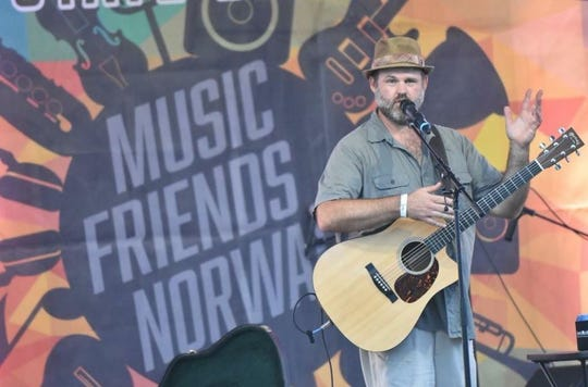 Musician Dan Trilk performs at the 2018 Norwalk Music Festival. The event returns for a second year Sept. 1 at Warrior Run Golf Course.