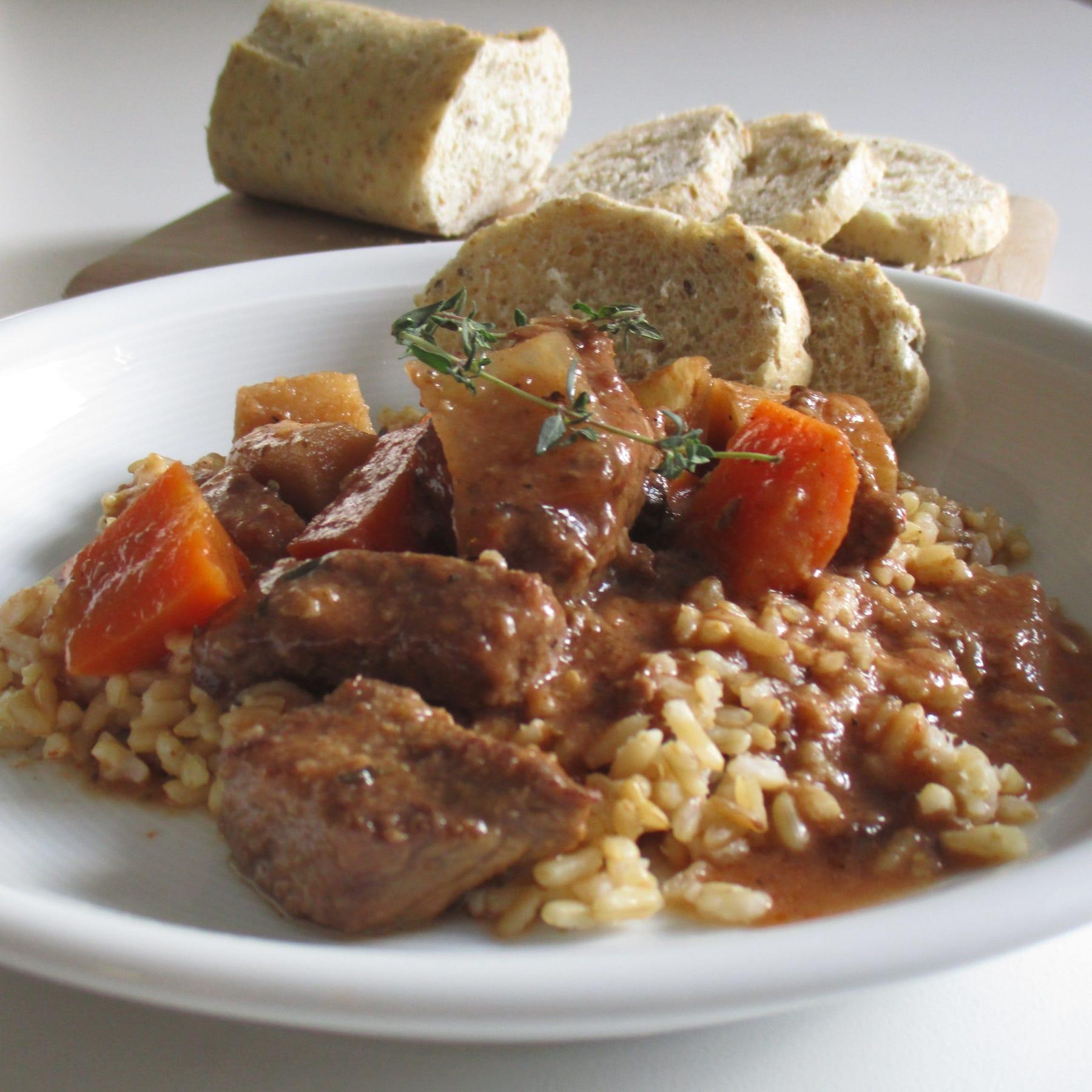 Parsnips among key ingredients in beef stew prepared in slow cooker