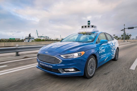 Ford tests a self-driving Fusion in Miami