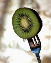 Kiwi provides an ample amount potassium. Diets rich in potassium lower blood pressure and may blunt the hypertensive effects of a higher-sodium diet.