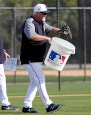 Ron Gardenhire at spring training Friday, Feb. 15, 2019, in Lakeland, Fla.
