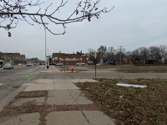 This is the 14-acre site at East Jefferson Avenue and Piper Street for which the city plans to put out a request for proposals for a mixed-use building with a grocery store and affordable housing.