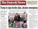 The front page of the Detroit News on Friday February 15, 2019