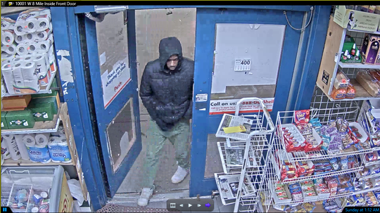 Police are looking for this suspect in for attempting to set fire in a gas station.