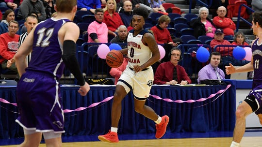 Kobe Caldwell scored 21 of USI's 100 points during Thursday's win over McKendree.