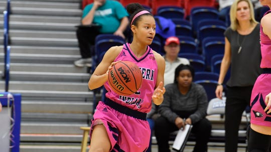 USI junior guard Ashley Johnson finished with 16 points, six assists and four steals during Thursday's 66-62 win over McKendree.