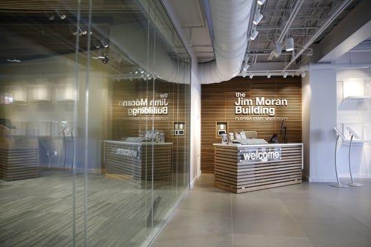 The lobby of FSU's Jim Moran Building, 111 S. Monroe St.