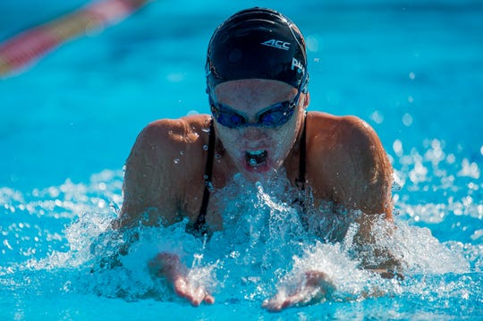 Florida State senior swimmer Natalie Purnell led the Seminoles to an 11- 1 record this season.
