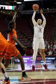 Florida State redshirt junior forward Kiah Gillespie is averaging 16.8 points and 8.6 rebounds per game this season.