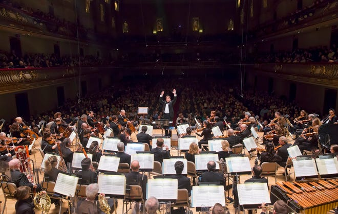 Boston Pops at Symphony Hall in Boston, Friday, April 7, 2017.