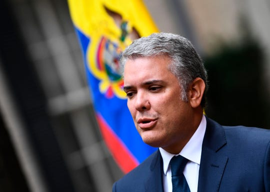 US President Donald Trump hosted his Colombian counterpart Ivan Duque at the White House to discuss their campaign to pressure Venezuela's far left president, Nicolas Maduro, from power.