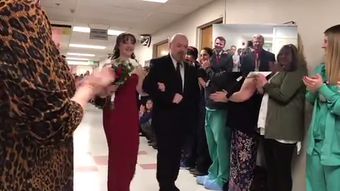 After her dad's recent health battle Grace Justice wanted one thing: for him to walk her down the aisle. Poudre Valley Hospital staff made it happen.